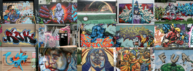 Collage of TerraCycle Graffiti