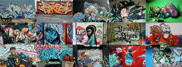 Fourth collage of TerraCycle Graffiti